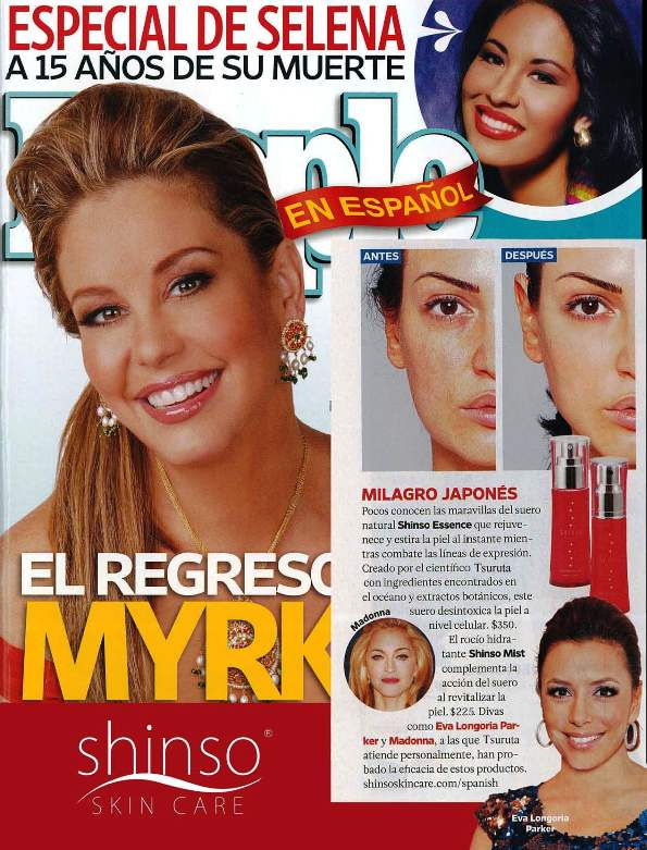People Espanol Magazine Cover and Article April 2010