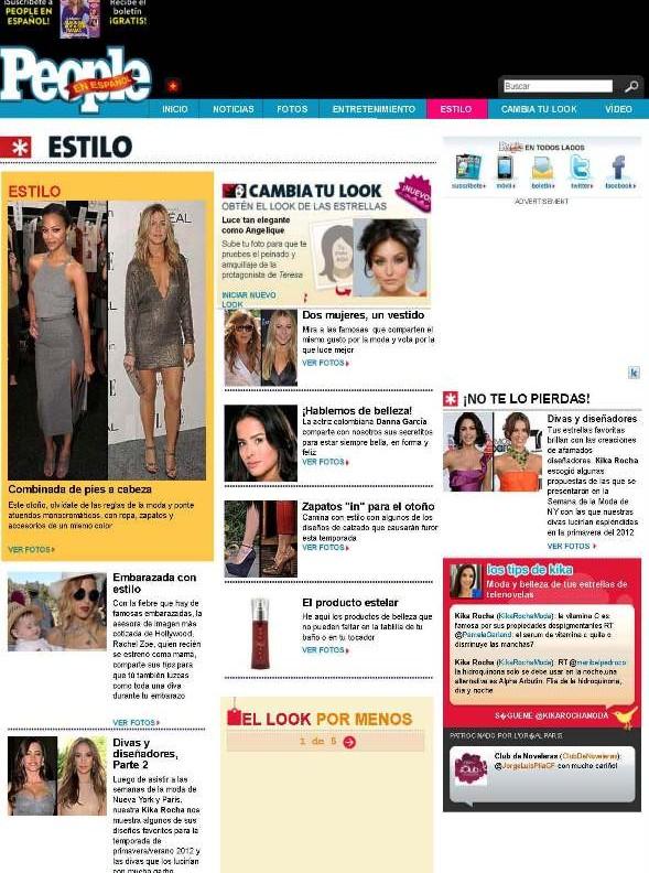 People Espanol Magazine cover 10-14-11