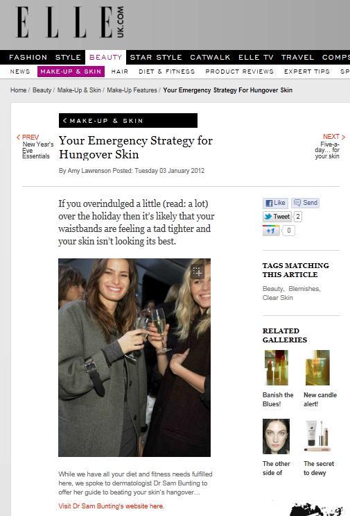 Elle Magazine Cover Jan 2012