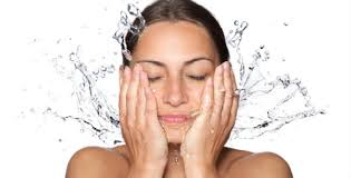 wash face in shower